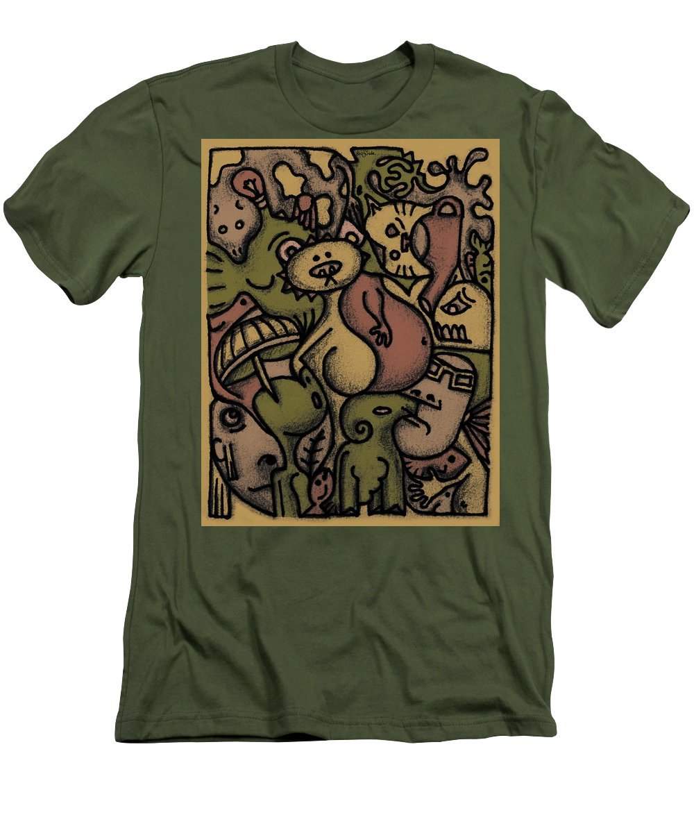 Kaki Men's T-Shirt (Athletic Fit) featuring the digital art Interwhining1 by Kelly Jade King