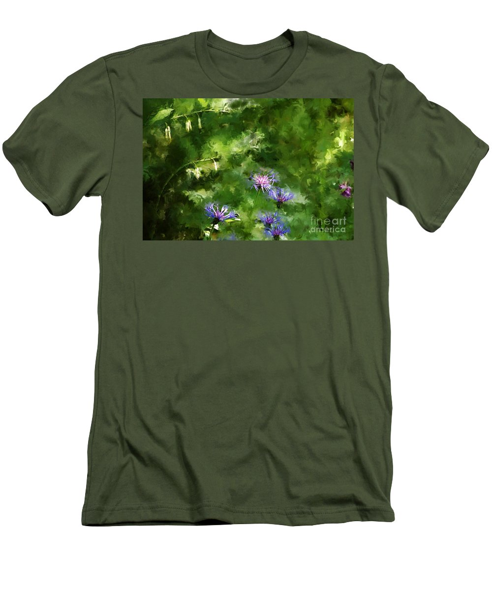 Digital Photo Men's T-Shirt (Athletic Fit) featuring the photograph It's A Still Life I Want To Color by David Lane
