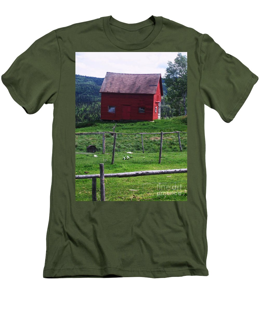 Photograph Newfoundland Jackson Cove Boat Grass Men's T-Shirt (Athletic Fit) featuring the photograph Jackson's Cove by Seon-Jeong Kim