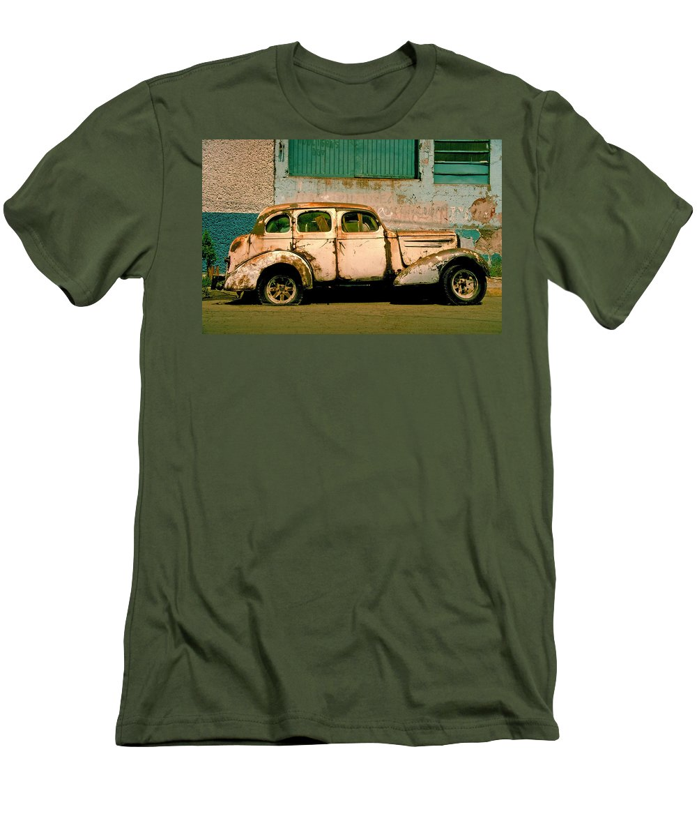 Skip Men's T-Shirt (Athletic Fit) featuring the photograph Jalopy by Skip Hunt