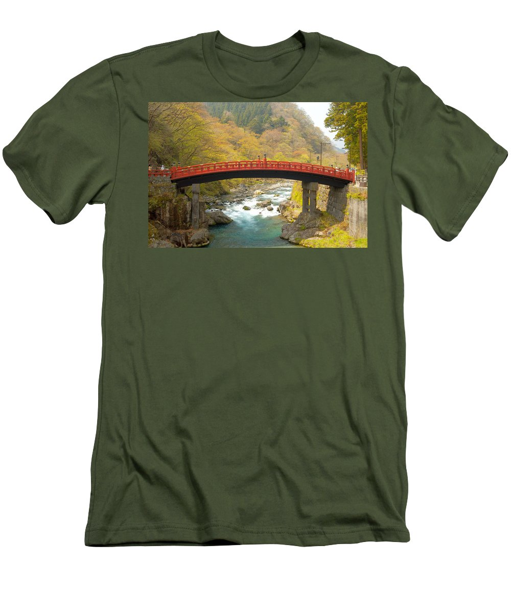 Japan Men's T-Shirt (Athletic Fit) featuring the photograph Japanese Bridge by Sebastian Musial