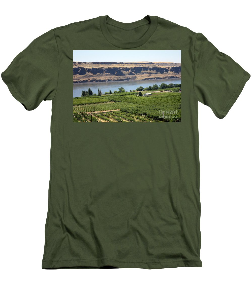 Columbia River Gorge Men's T-Shirt (Athletic Fit) featuring the photograph Just Add Water... by Carol Groenen