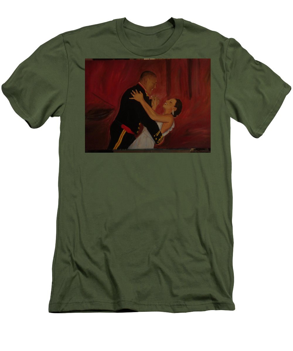 Marine Men's T-Shirt (Athletic Fit) featuring the painting Just Married by Regina Walsh