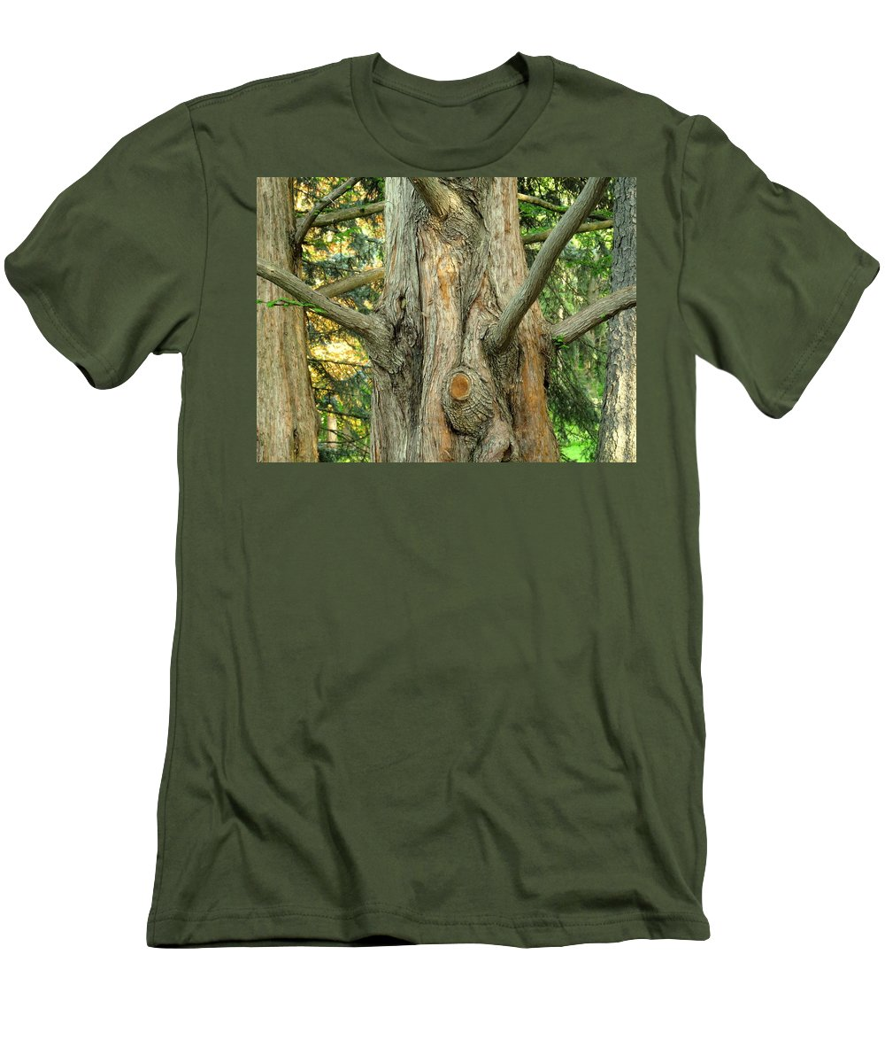 Tree Men's T-Shirt (Athletic Fit) featuring the photograph Knarled by Ian MacDonald
