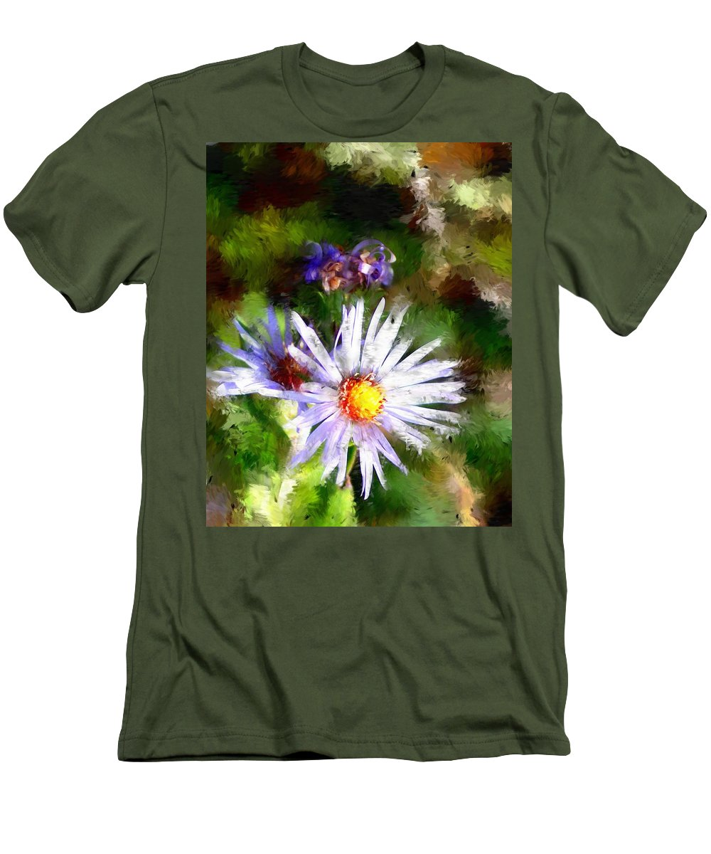 Flower Men's T-Shirt (Athletic Fit) featuring the photograph Last Rose Of Summer by David Lane