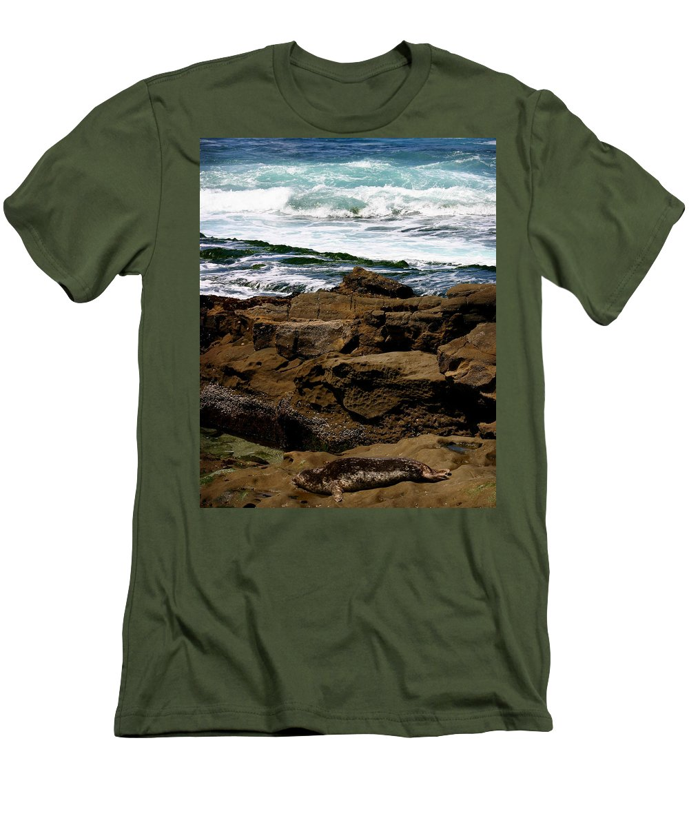 Beach Men's T-Shirt (Athletic Fit) featuring the photograph Lazy Days by Anthony Jones