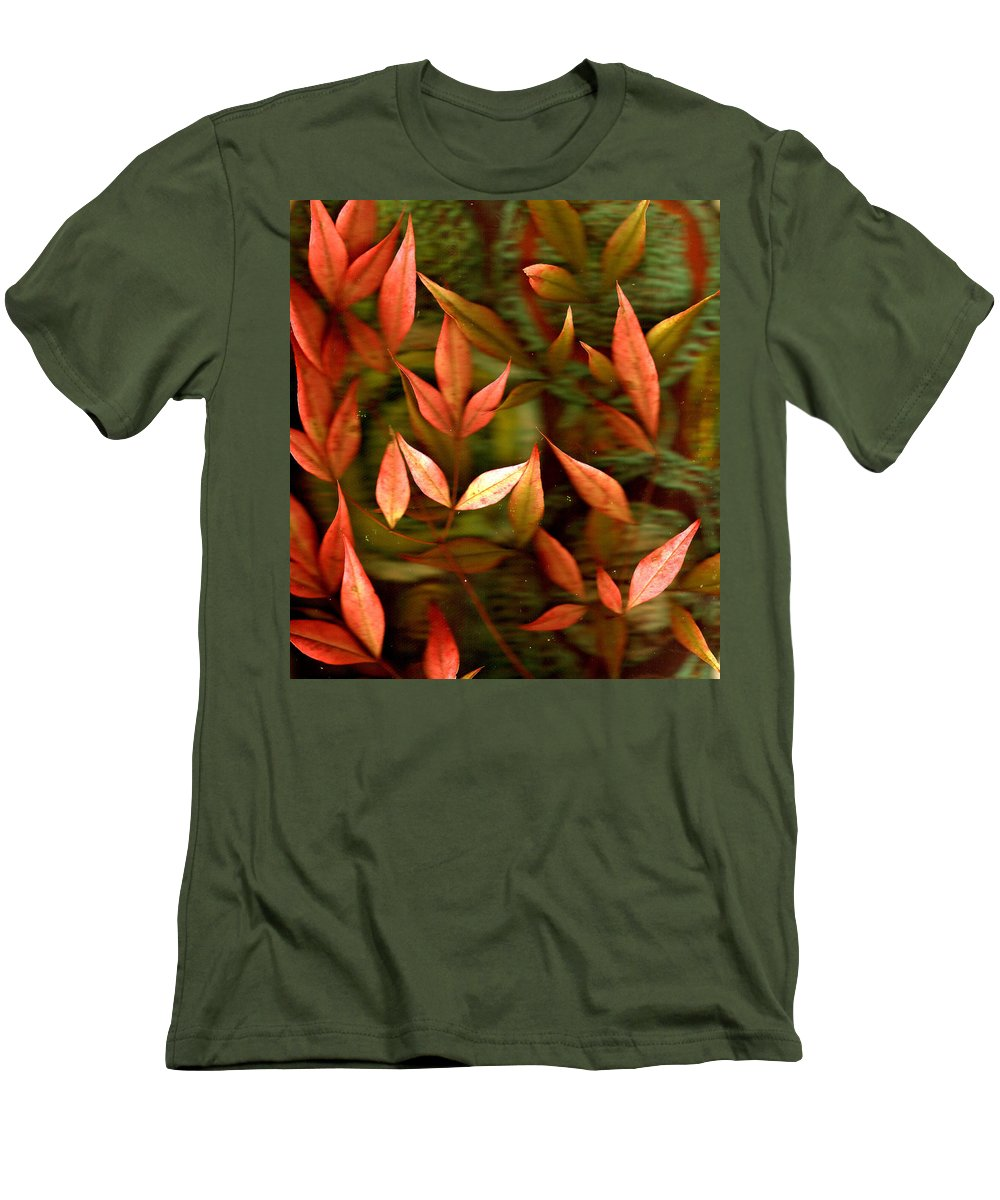 Leaves Men's T-Shirt (Athletic Fit) featuring the photograph Leaf Collage Photo by Wayne Potrafka