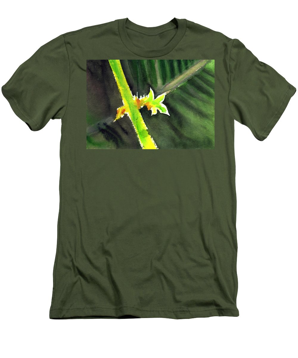 Water Color Men's T-Shirt (Athletic Fit) featuring the painting Light Branch by Anil Nene