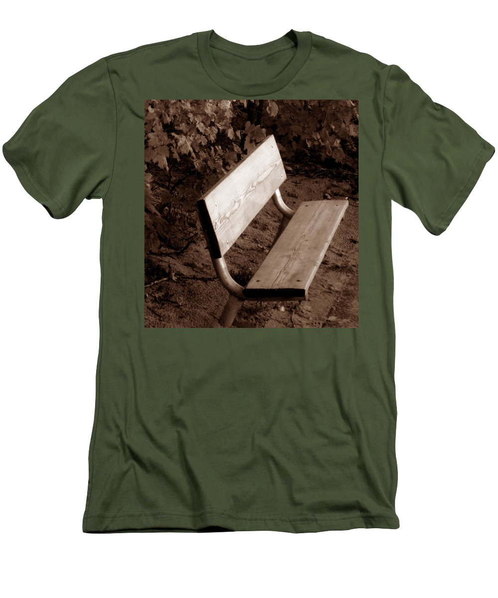 Lonliness Men's T-Shirt (Athletic Fit) featuring the photograph Lonely by Wayne Potrafka