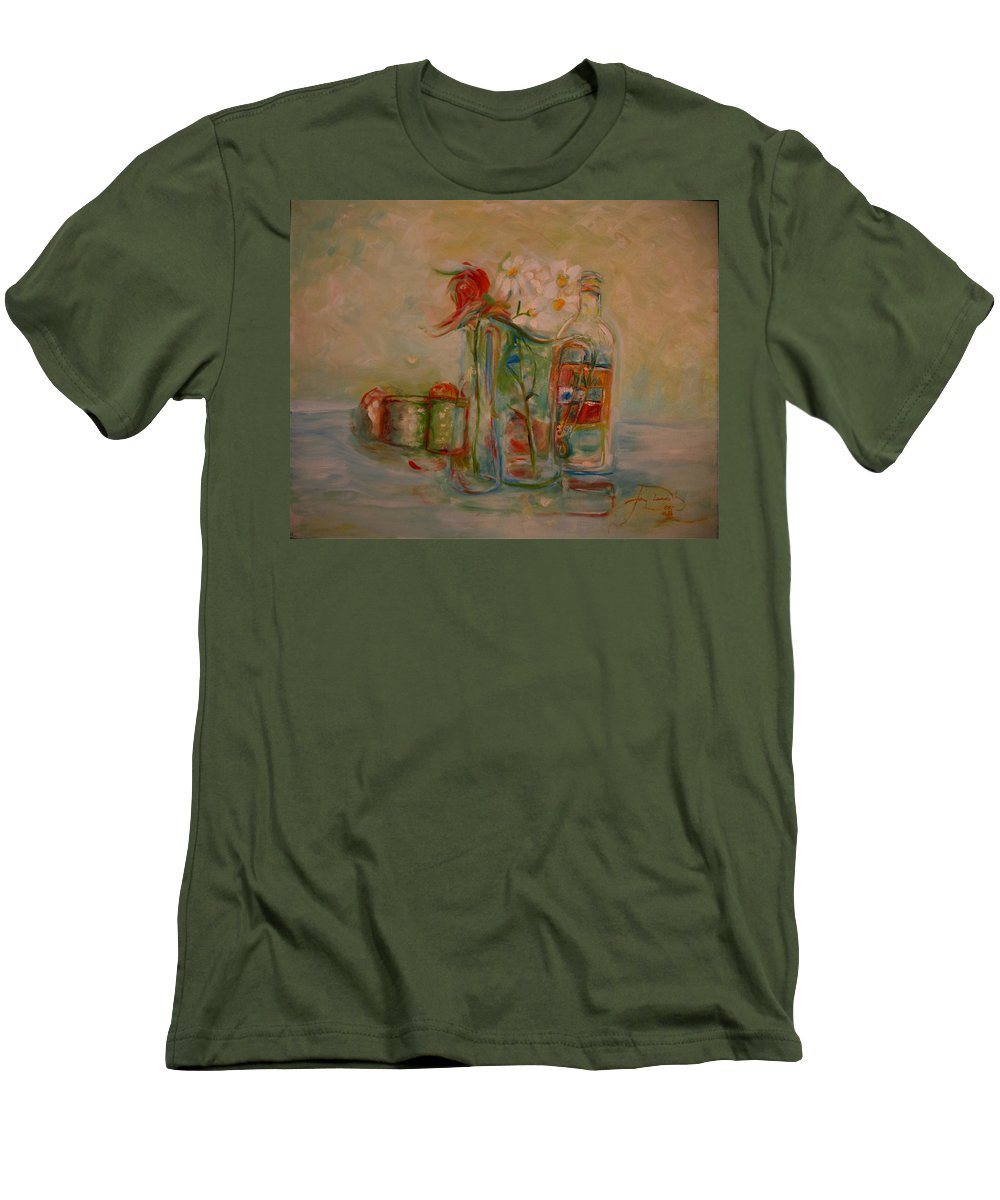 Rose Men's T-Shirt (Athletic Fit) featuring the painting Lovers Picnic by Jack Diamond