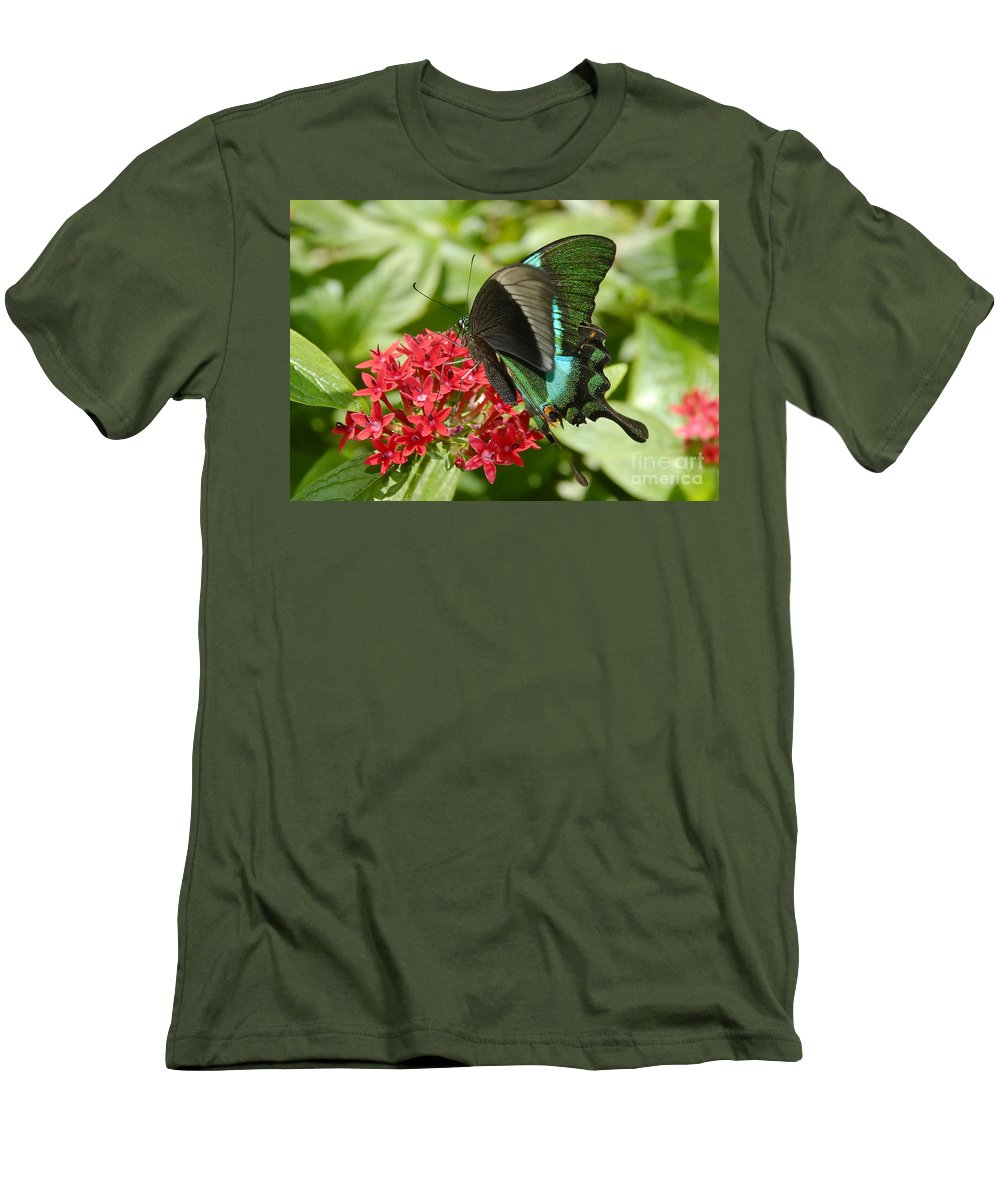 Luminescence Men's T-Shirt (Athletic Fit) featuring the photograph Luminescence by David Lee Thompson