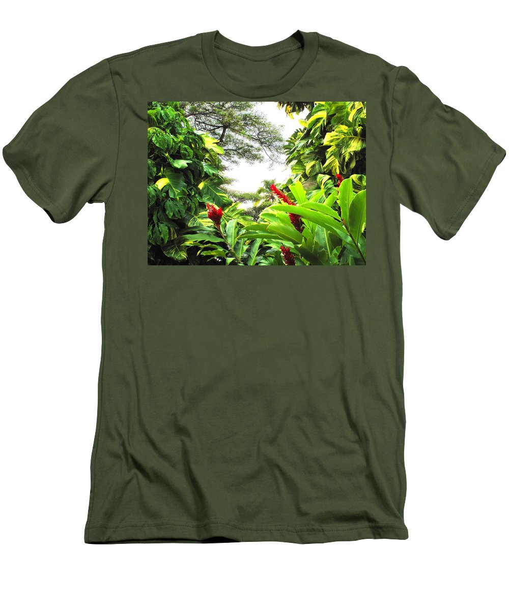 St Kitts Men's T-Shirt (Athletic Fit) featuring the photograph Lush by Ian MacDonald