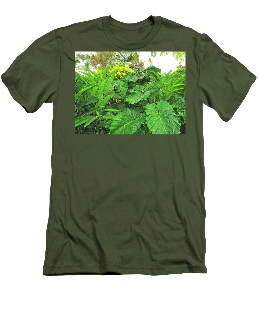 Vegetation Men's T-Shirt (Athletic Fit) featuring the photograph Lust Too by Ian MacDonald