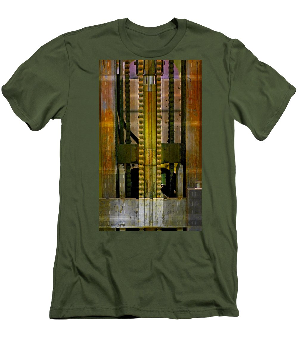 Texture Men's T-Shirt (Athletic Fit) featuring the photograph Machina by Skip Hunt