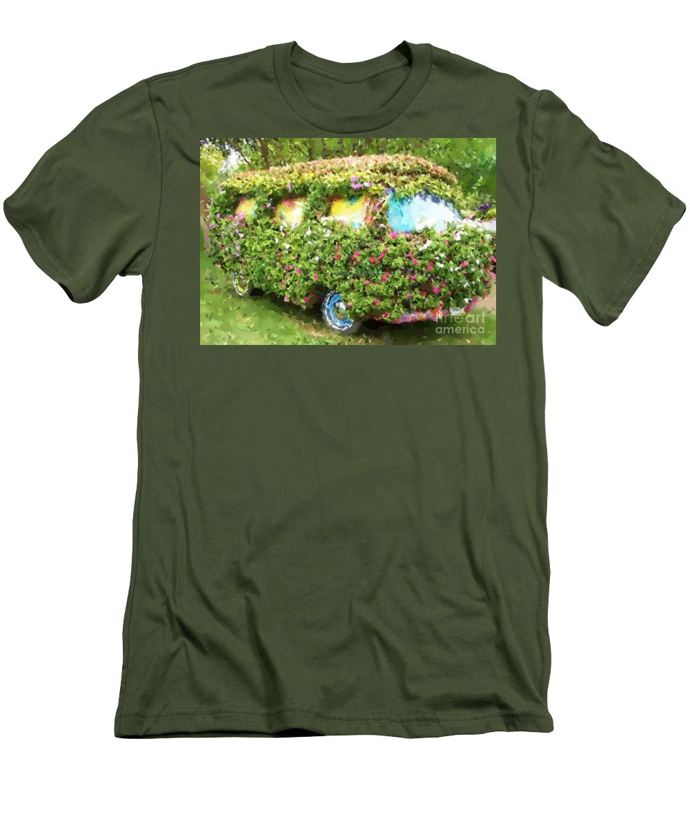 Volkswagen Men's T-Shirt (Athletic Fit) featuring the photograph Magic Bus by Debbi Granruth