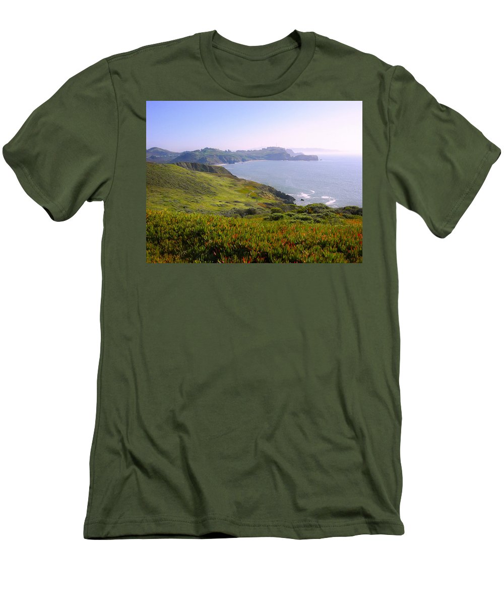 Landscape Men's T-Shirt (Athletic Fit) featuring the photograph Marin Headlands 2 by Karen W Meyer
