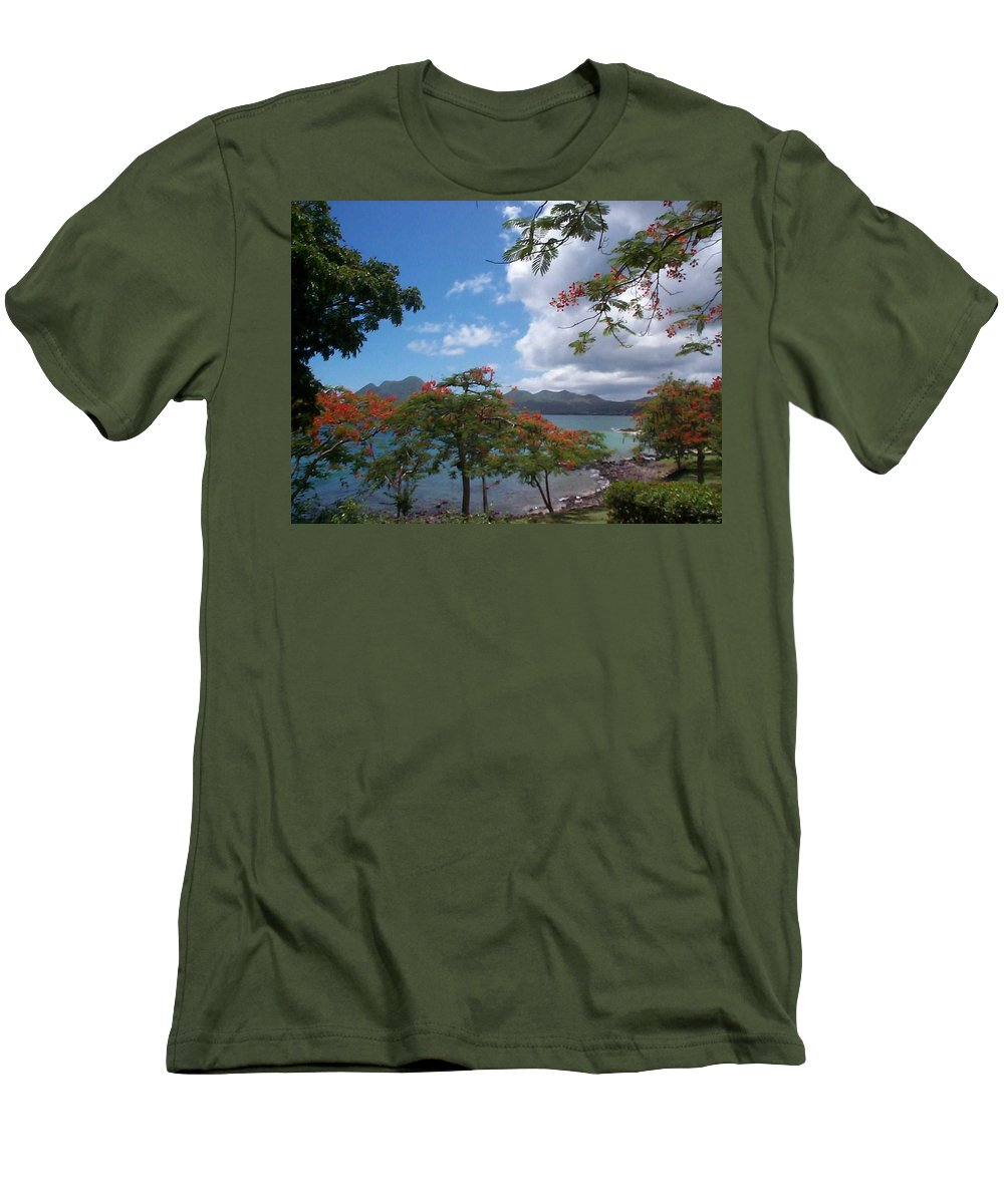 Donation Men's T-Shirt (Athletic Fit) featuring the photograph Martinique by Mary-Lee Sanders