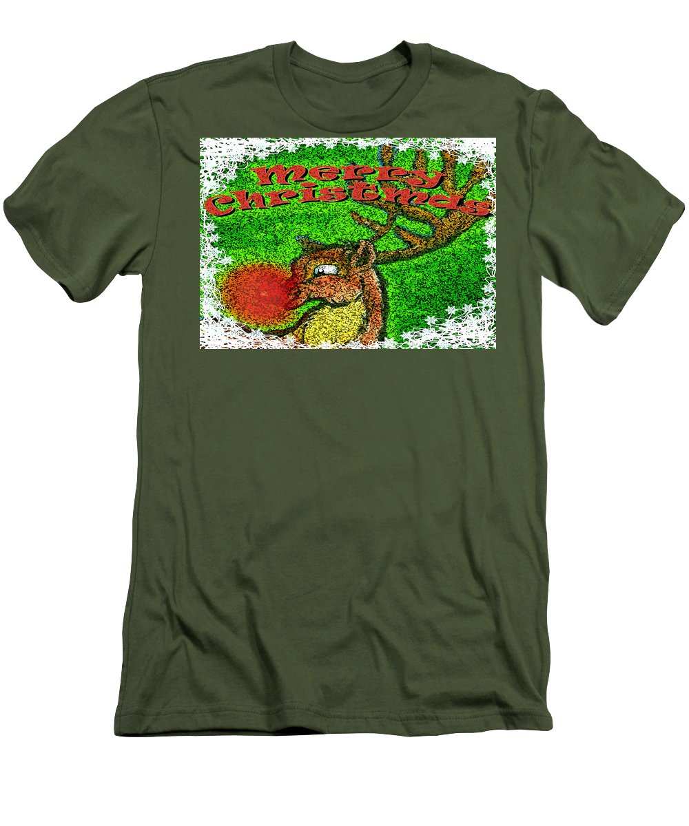 Christmas Men's T-Shirt (Athletic Fit) featuring the greeting card Merry Christmas by Kevin Middleton