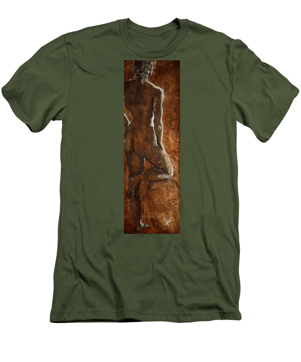 Nude Men's T-Shirt (Athletic Fit) featuring the painting Mickey Xx by Richard Hoedl
