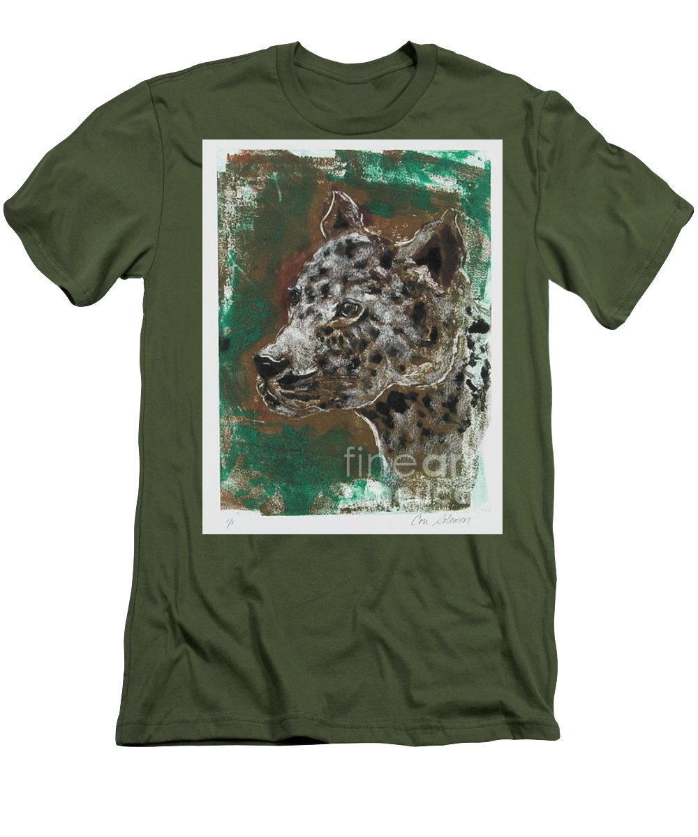 Monotype Men's T-Shirt (Athletic Fit) featuring the mixed media Midnight Prowler by Cori Solomon