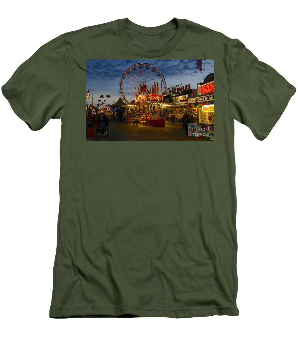 Midway Men's T-Shirt (Athletic Fit) featuring the photograph Midway by David Lee Thompson