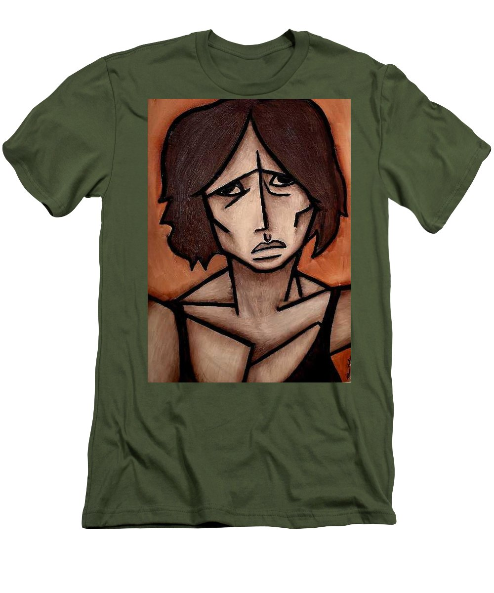 Potrait Men's T-Shirt (Athletic Fit) featuring the painting Missy by Thomas Valentine