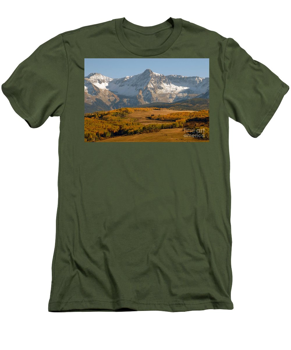 Mount Sneffels Men's T-Shirt (Athletic Fit) featuring the photograph Mount Sneffels by David Lee Thompson