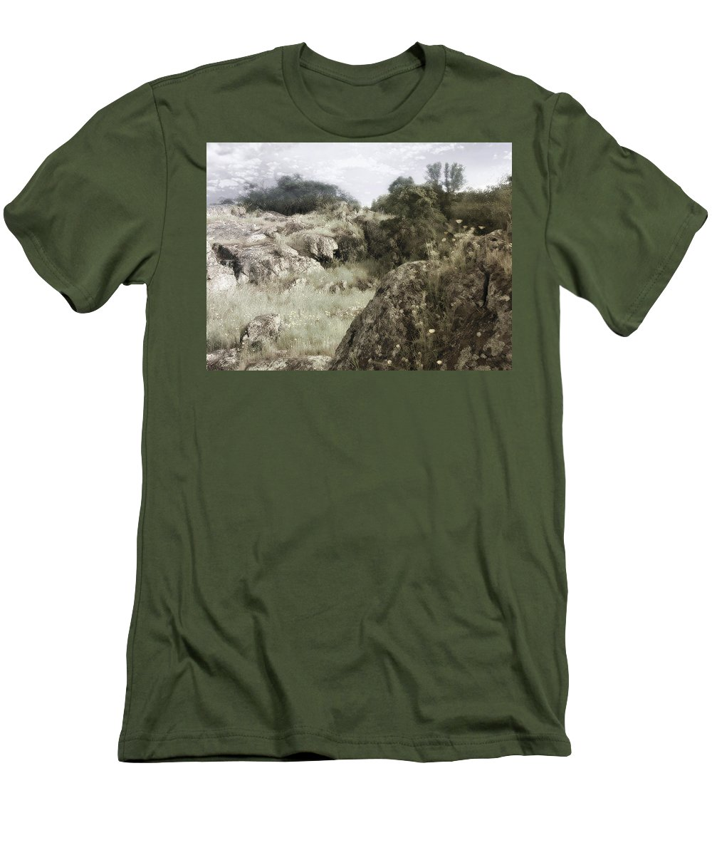 Landscape Men's T-Shirt (Athletic Fit) featuring the photograph Mountain Lion Country by Karen W Meyer