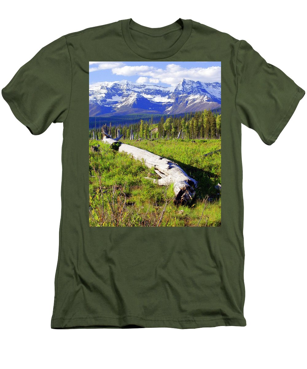 Mountain Men's T-Shirt (Athletic Fit) featuring the photograph Mountain Splendor by Marty Koch