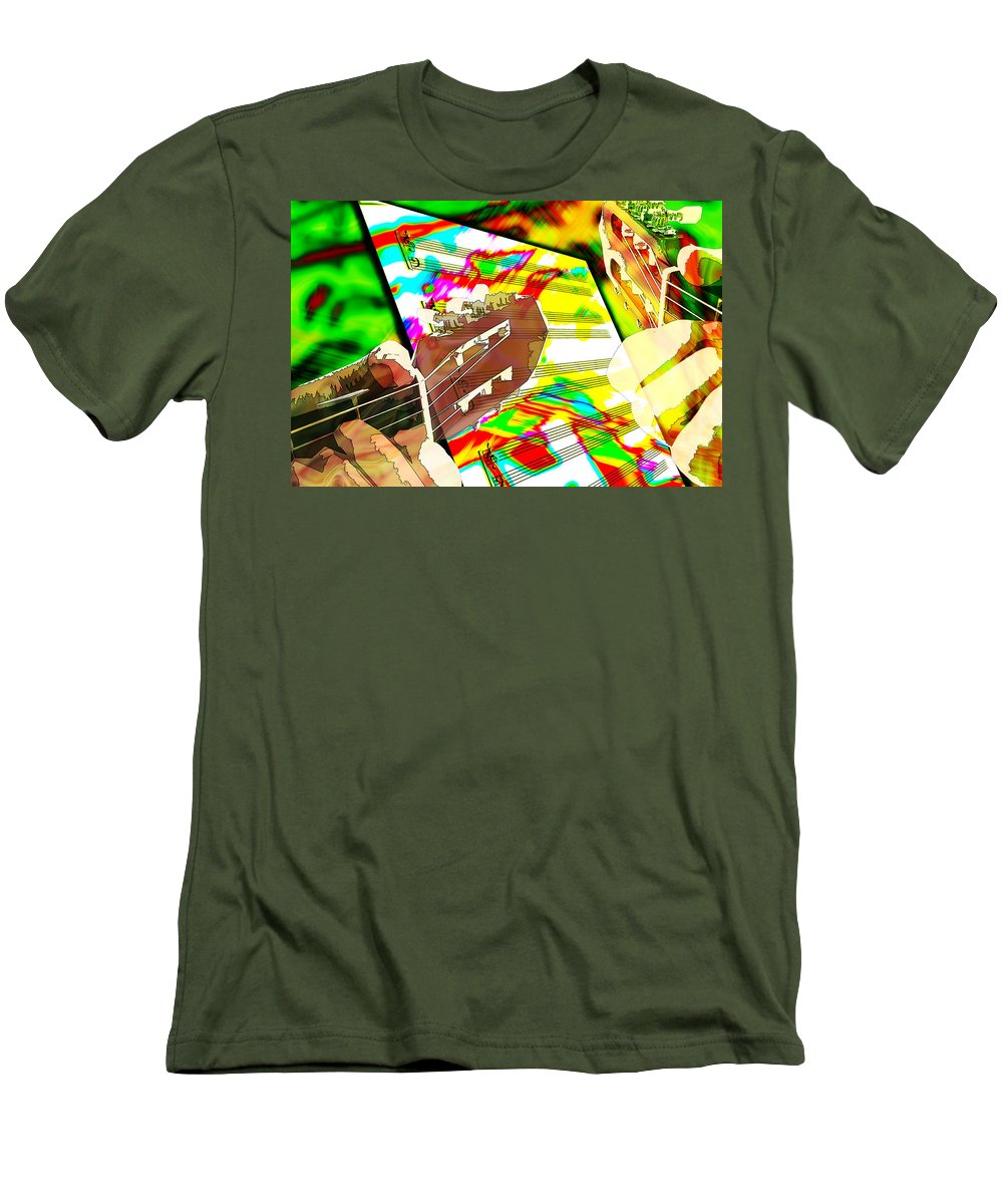 Guitar Men's T-Shirt (Athletic Fit) featuring the digital art Music Creation by Phill Petrovic
