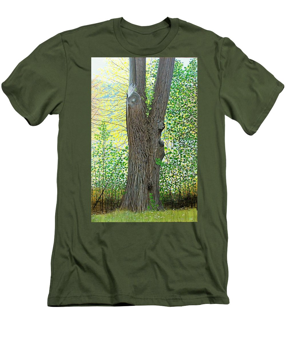 Landscape Men's T-Shirt (Athletic Fit) featuring the painting Muskoka Maple by Kenneth M Kirsch
