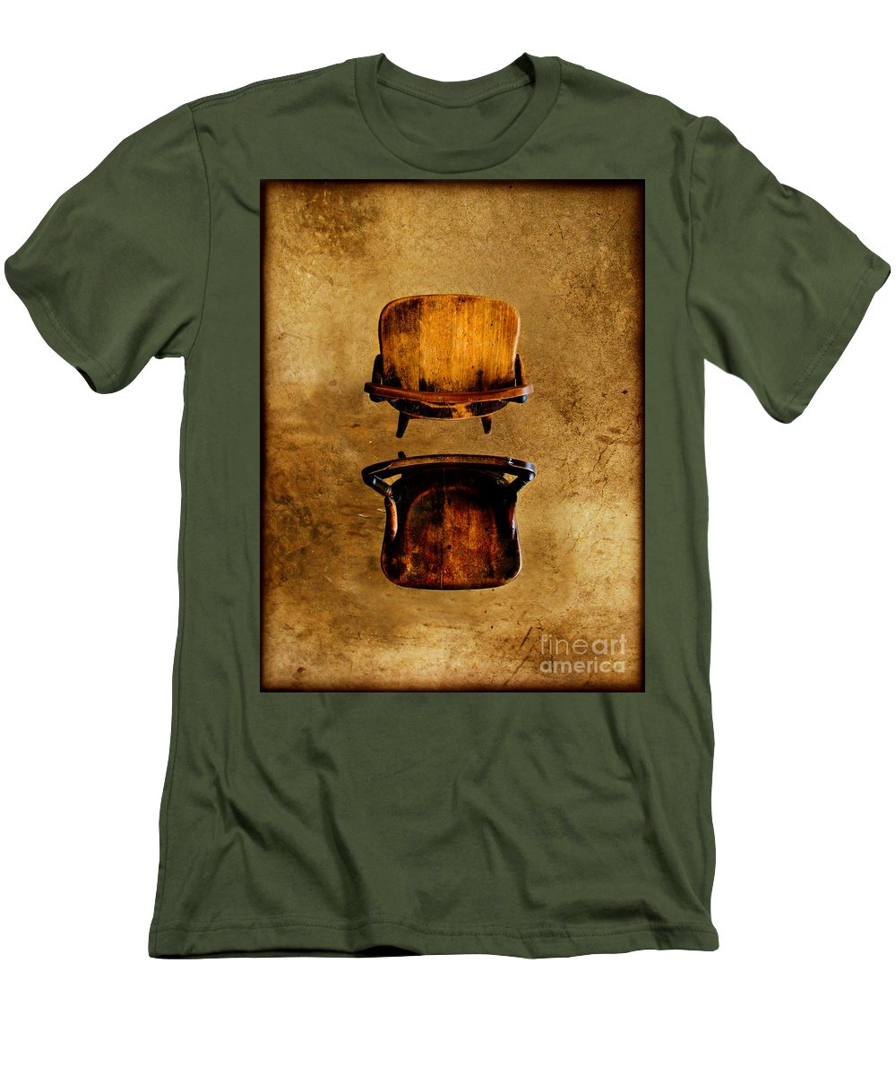 Concrete Men's T-Shirt (Athletic Fit) featuring the photograph My Arms Were Around You And I Hoped That You Wouldnt Hurt Me by Dana DiPasquale