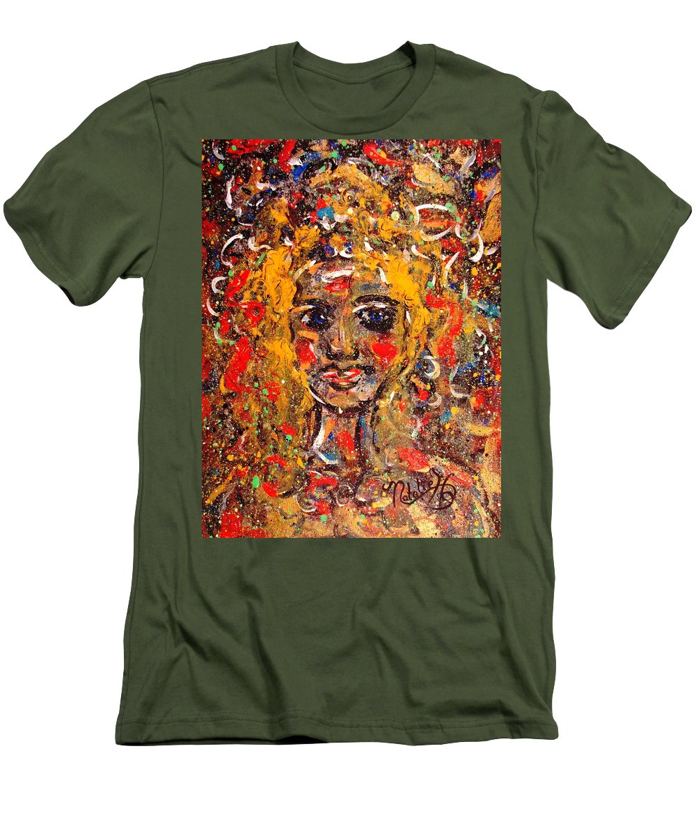 Impressionism Men's T-Shirt (Athletic Fit) featuring the painting Mysterious Eyes by Natalie Holland