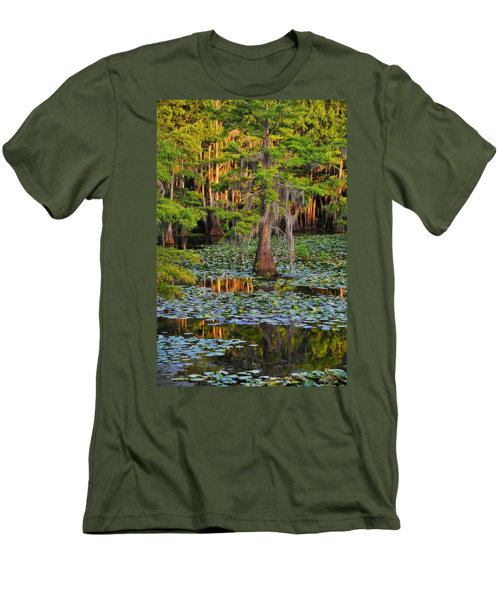 Bog Men's T-Shirt (Athletic Fit) featuring the photograph Naked by Skip Hunt