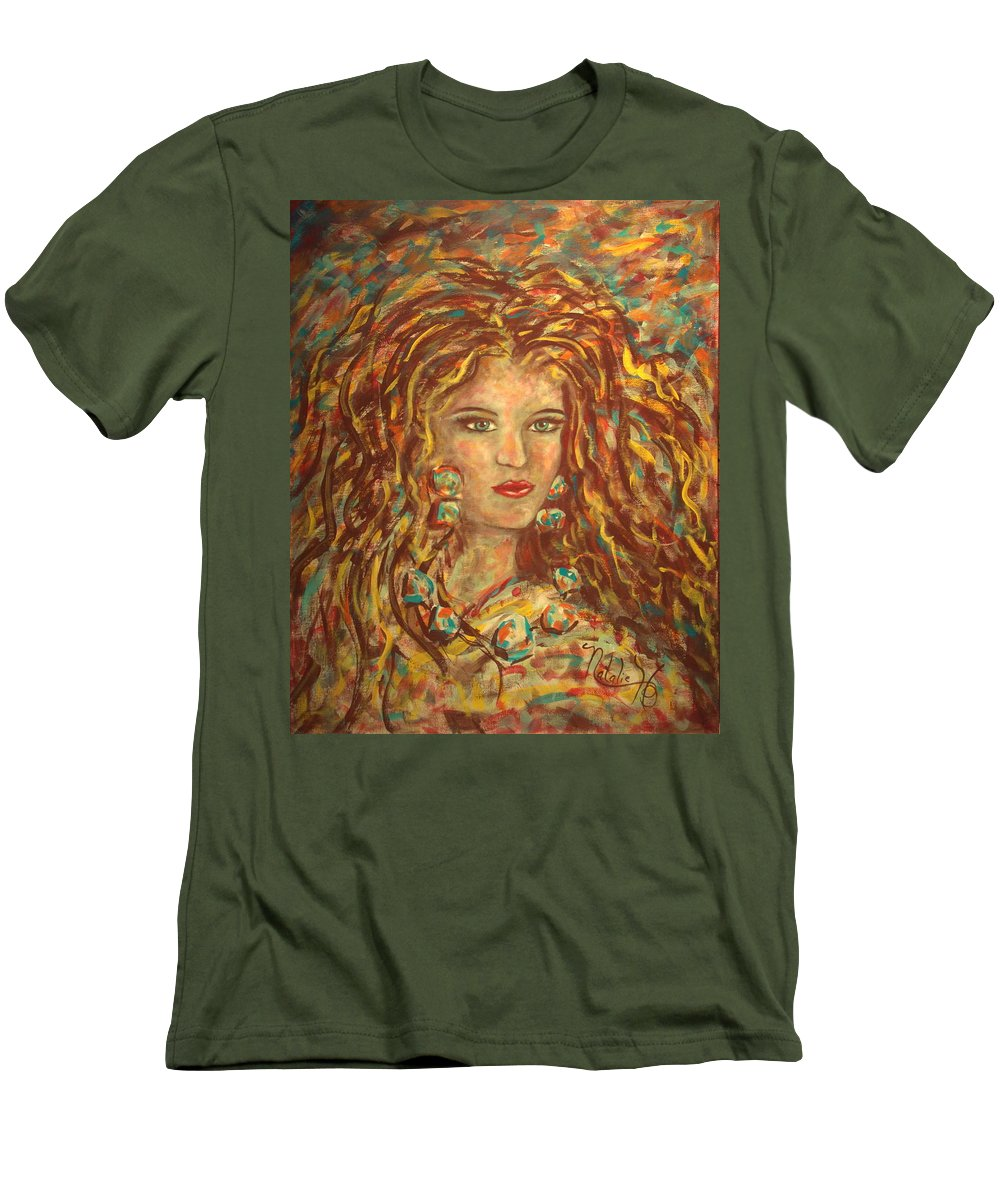 Natashka Men's T-Shirt (Athletic Fit) featuring the painting Natashka by Natalie Holland