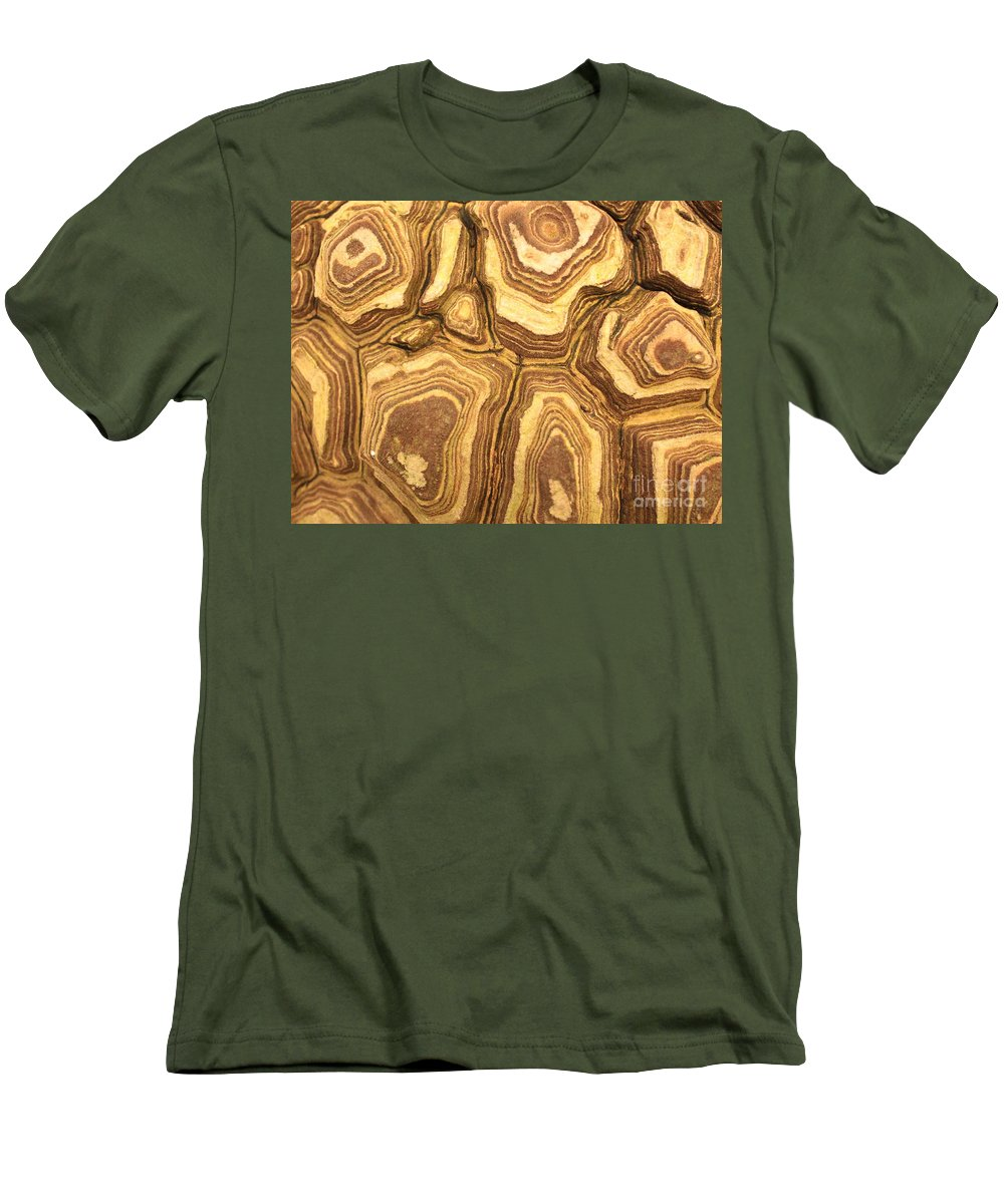 Nature Men's T-Shirt (Athletic Fit) featuring the photograph Nature's Interesting Patterns by Carol Groenen