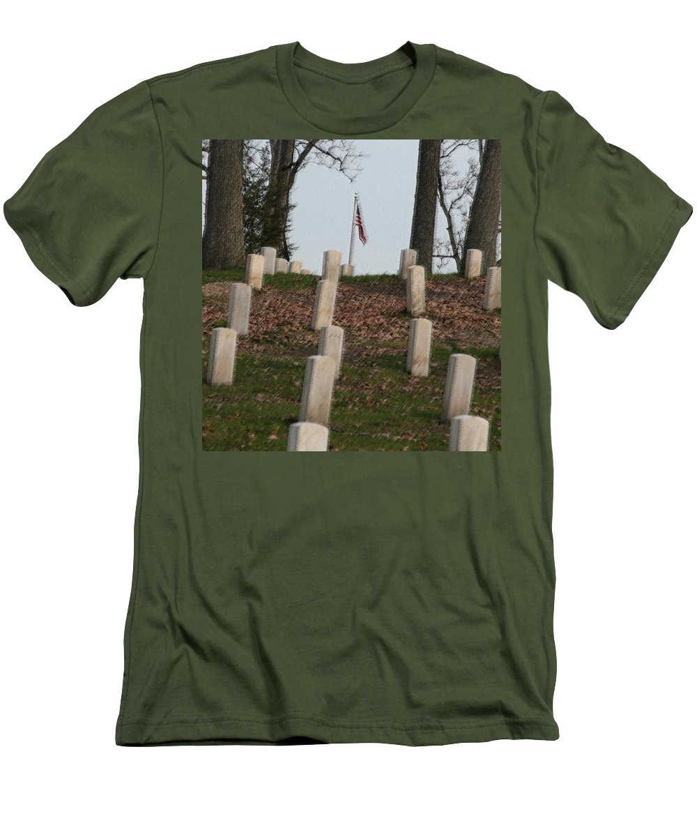 America Men's T-Shirt (Athletic Fit) featuring the photograph Never Forget The Cost by Robert Pearson