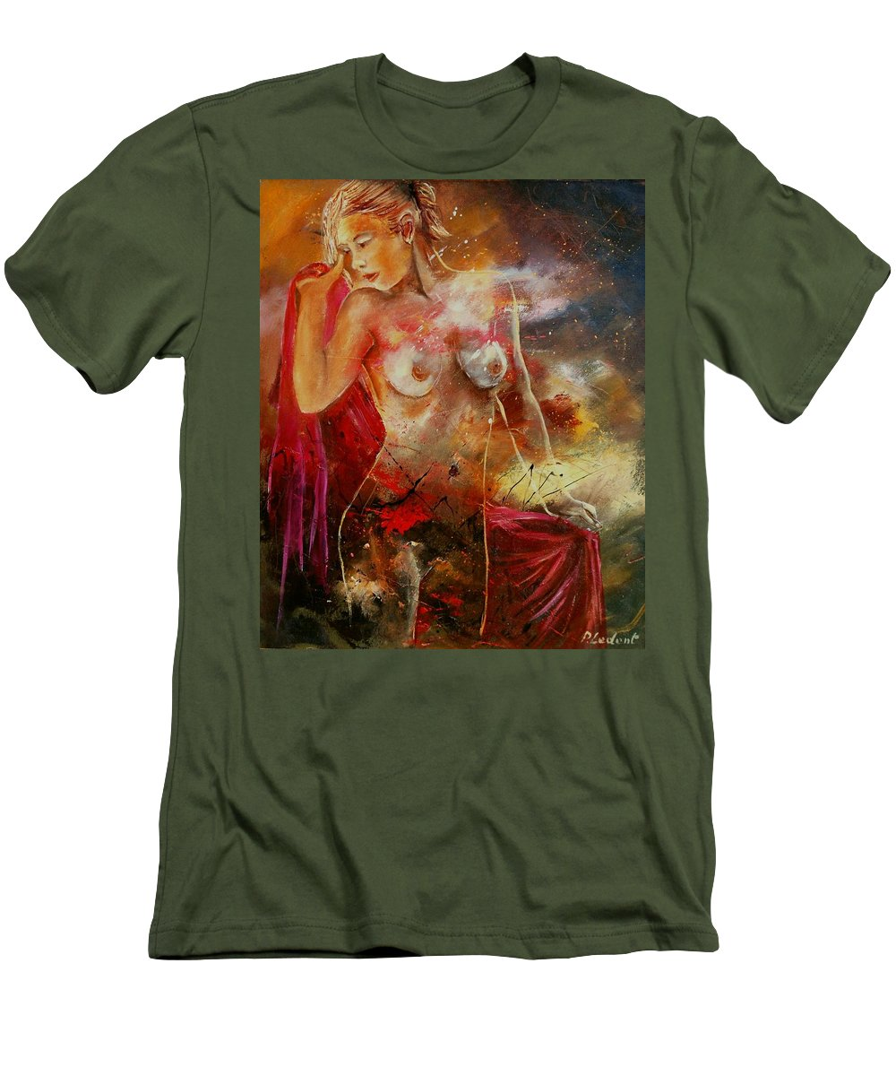 Nude Men's T-Shirt (Athletic Fit) featuring the painting Nude 561008 by Pol Ledent