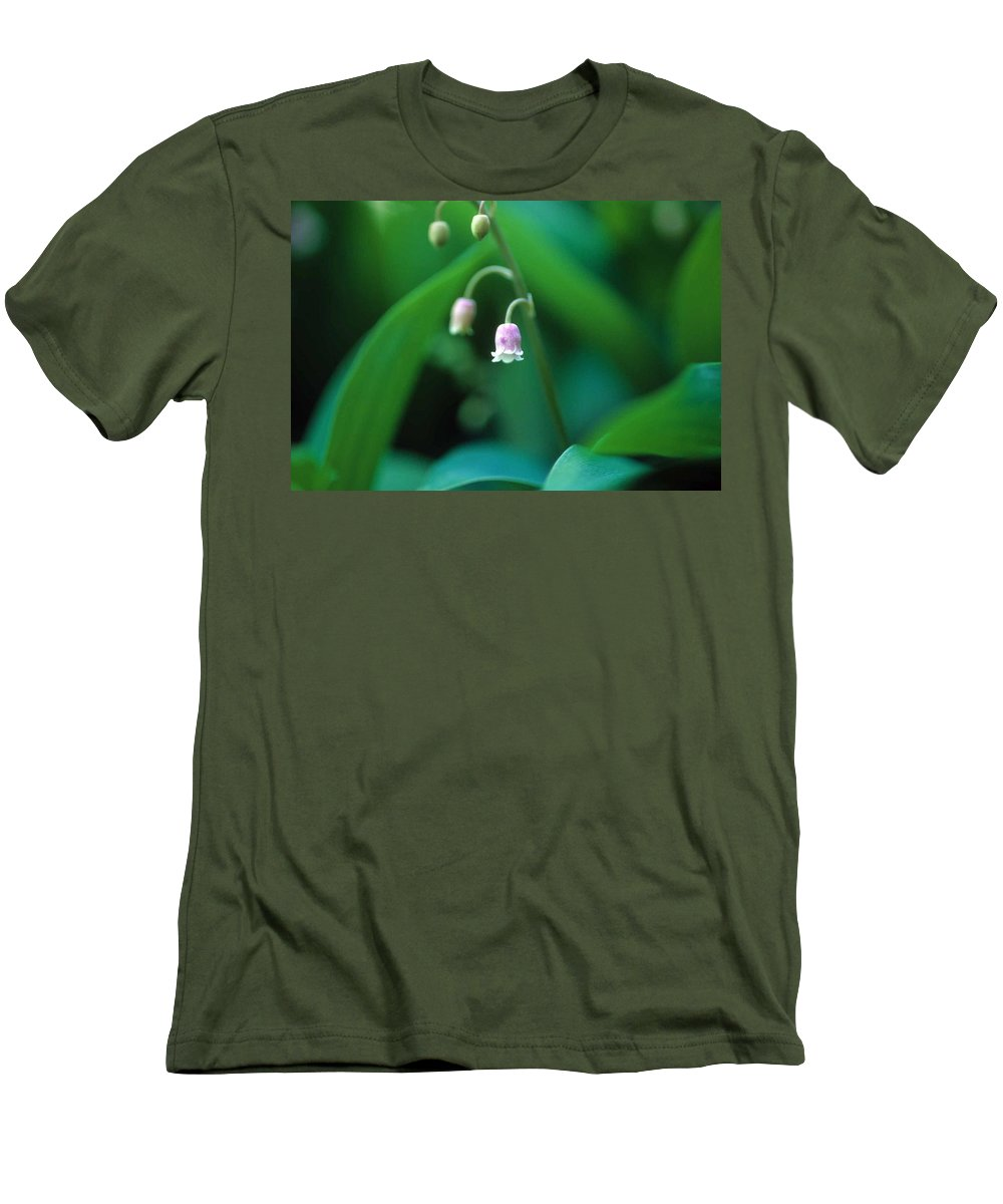 Lilly Of The Valley Men's T-Shirt (Athletic Fit) featuring the photograph Nurys Lilly by Laurie Paci