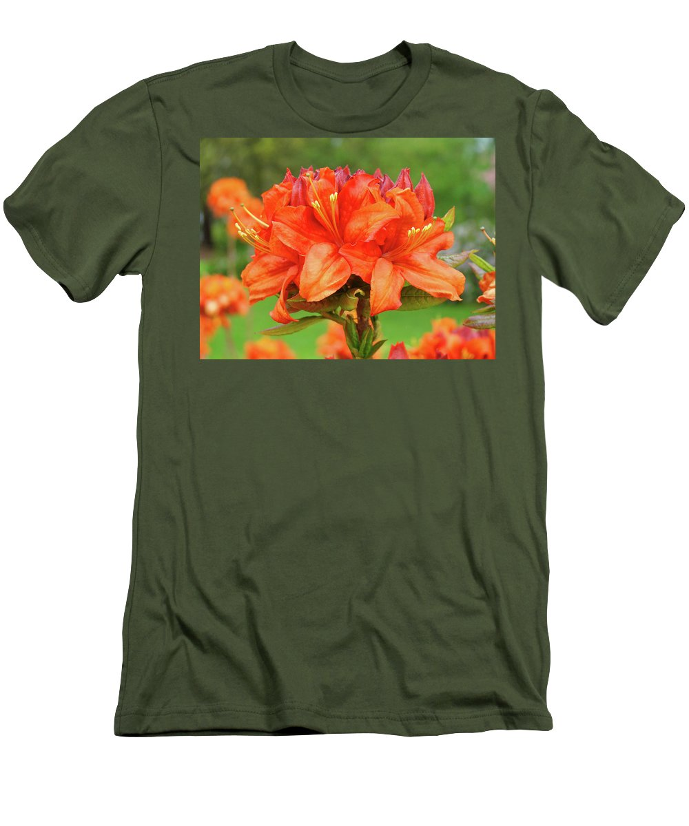 �azaleas Artwork� Men's T-Shirt (Athletic Fit) featuring the photograph Office Art Prints Azaleas Botanical Landscape 11 Giclee Prints Baslee Troutman by Baslee Troutman