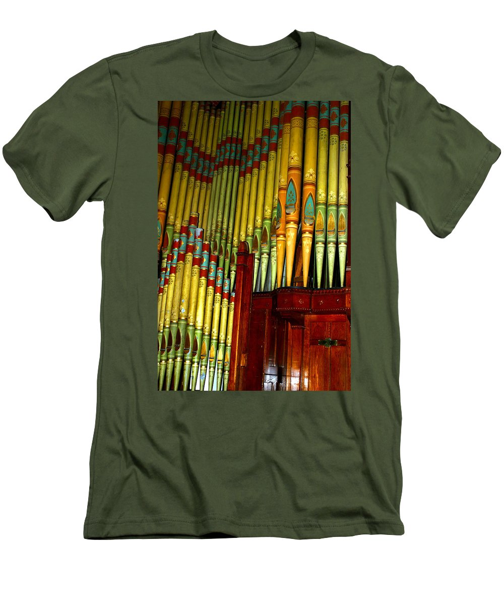 Organ Men's T-Shirt (Athletic Fit) featuring the photograph Old Church Organ by Anthony Jones