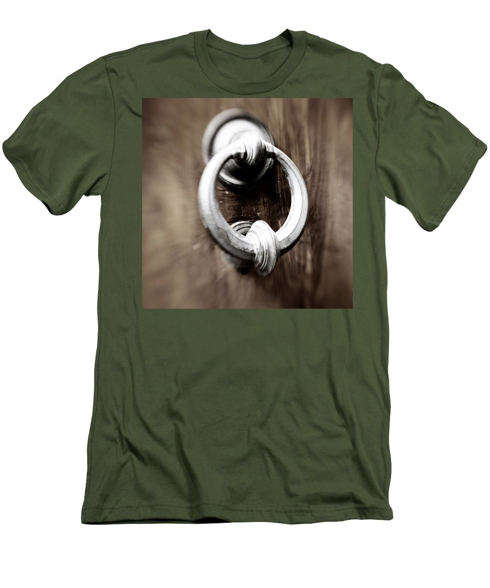 Home Men's T-Shirt (Athletic Fit) featuring the photograph old Door Knocker by Marilyn Hunt