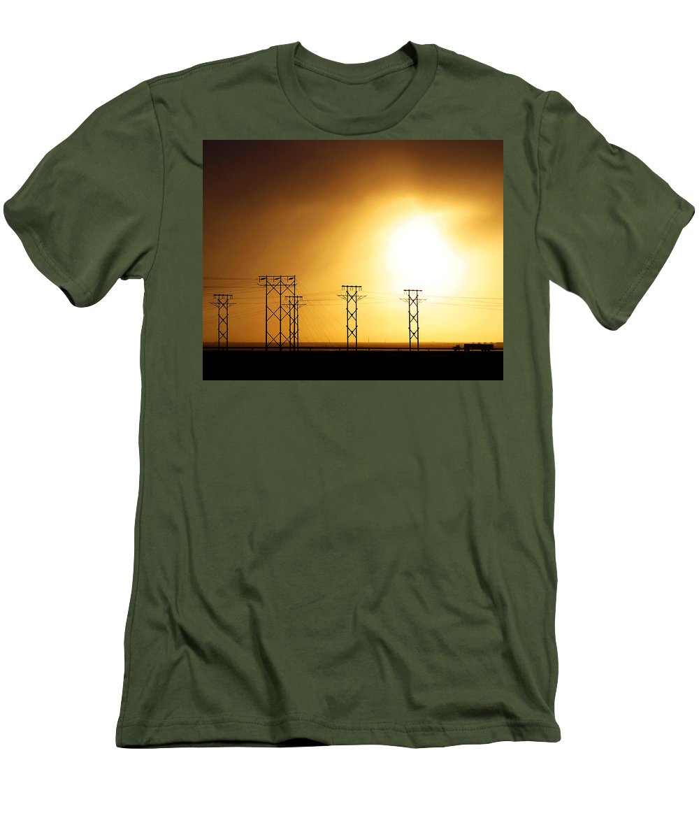 Truck Men's T-Shirt (Athletic Fit) featuring the photograph On The Road by Anthony Jones