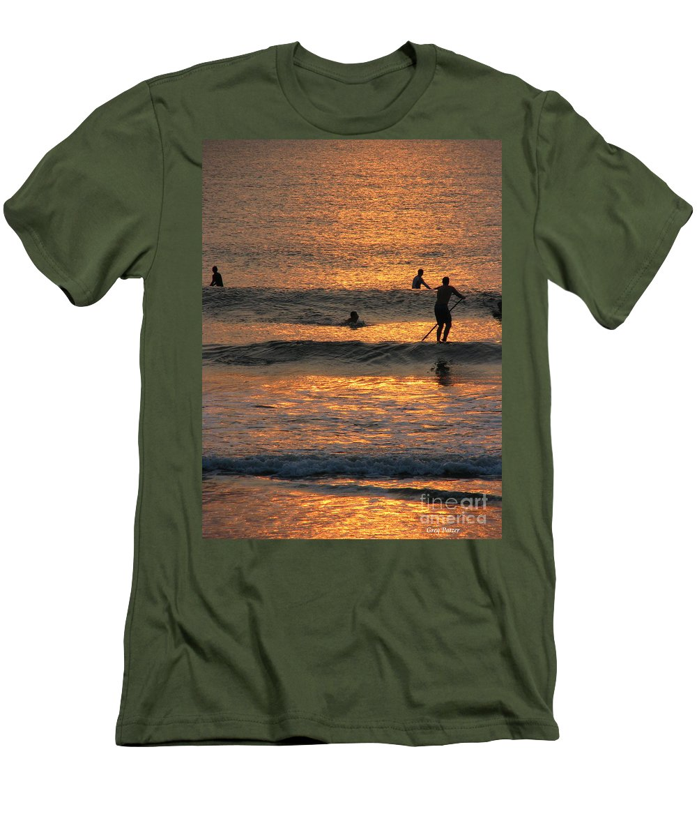 Art For The Wall...patzer Photography Men's T-Shirt (Athletic Fit) featuring the photograph One With Nature by Greg Patzer