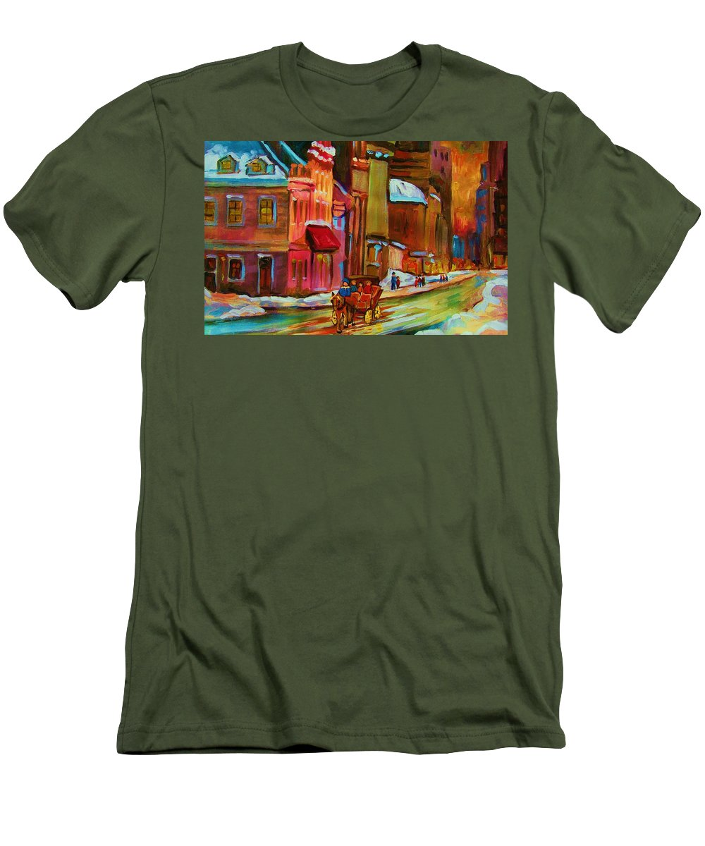 Montreal Men's T-Shirt (Athletic Fit) featuring the painting Our Perfect Day by Carole Spandau