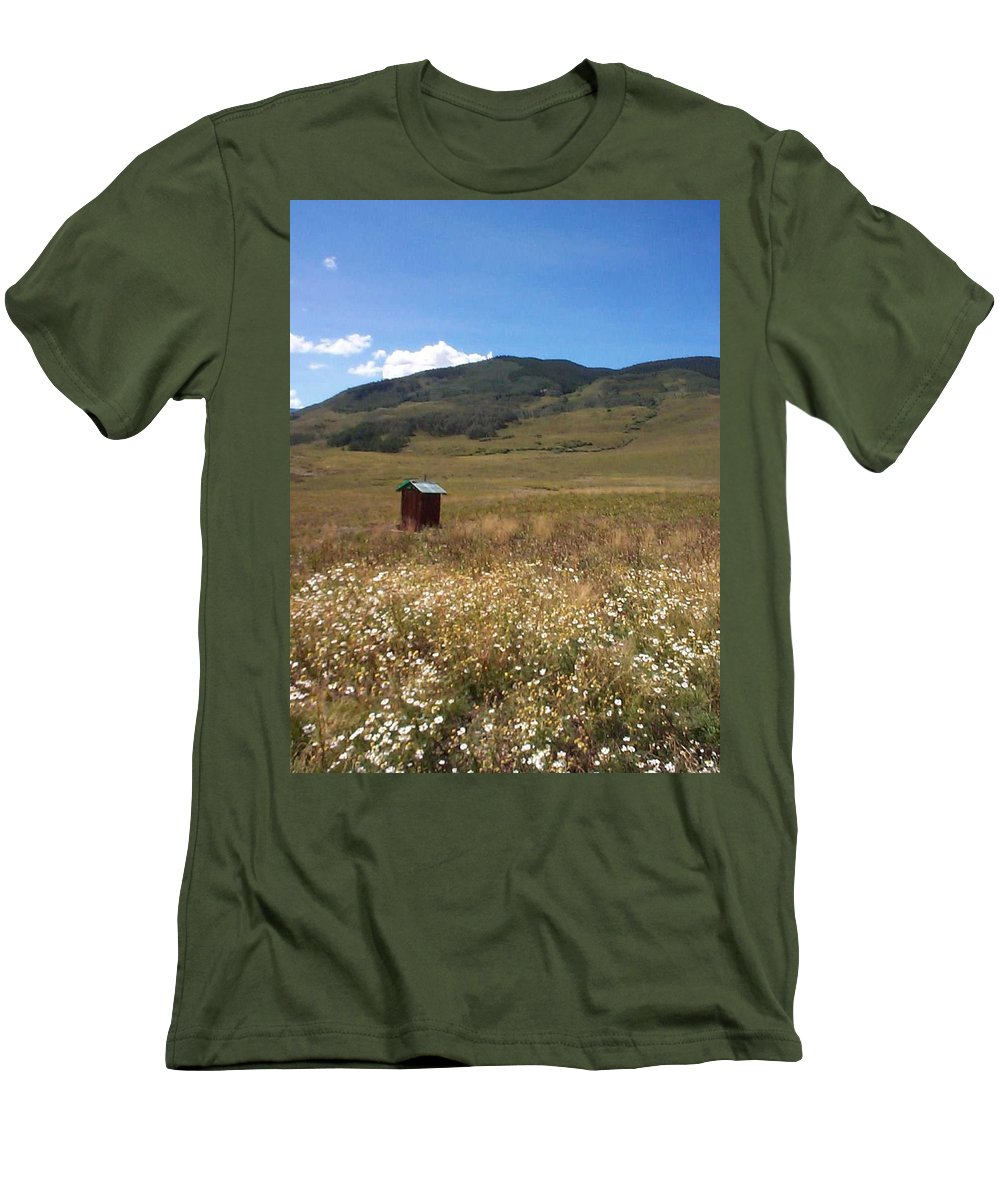Charity Men's T-Shirt (Athletic Fit) featuring the photograph Out House by Mary-Lee Sanders