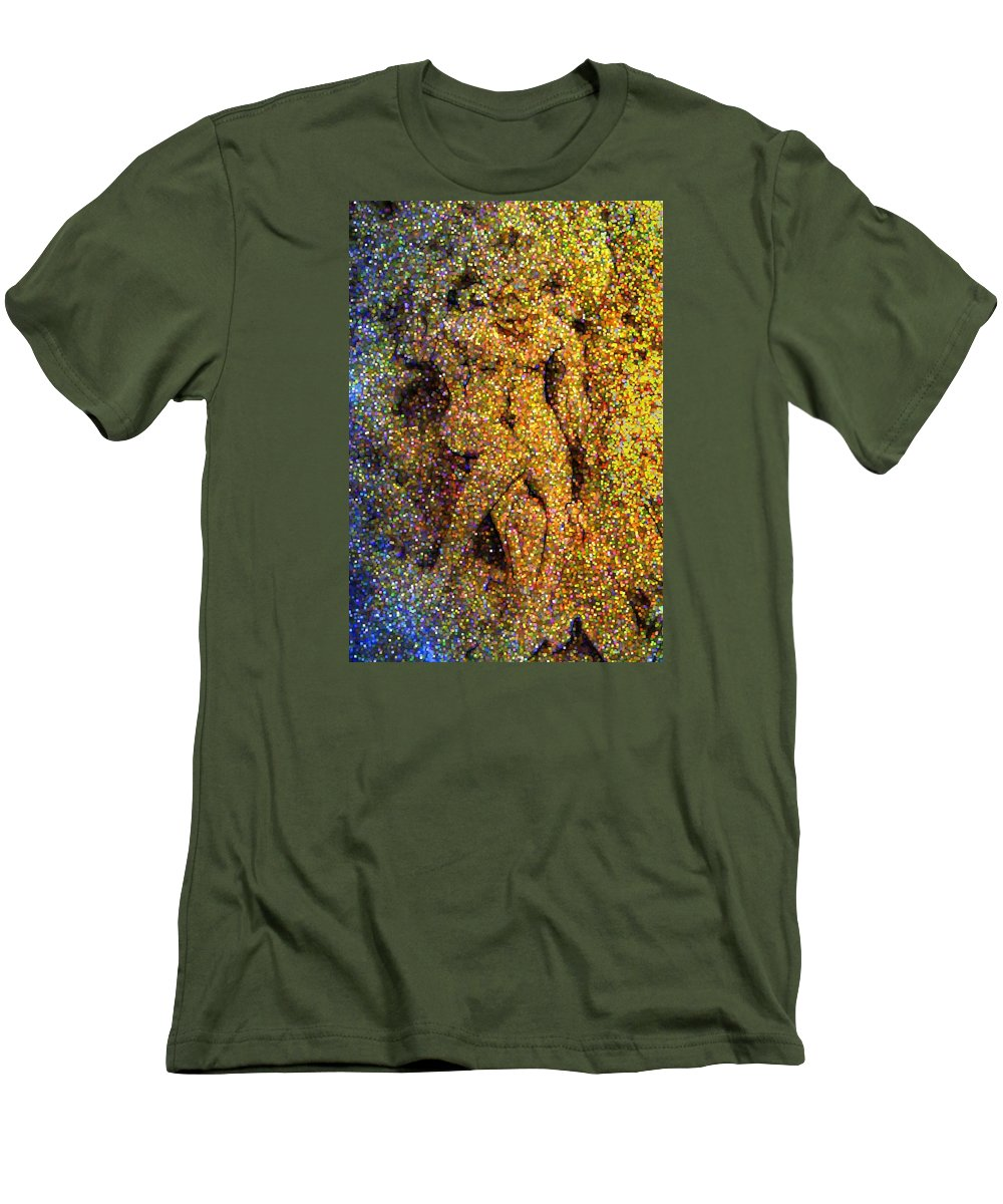 Abstract Men's T-Shirt (Athletic Fit) featuring the digital art Out Of Eden by Dave Martsolf