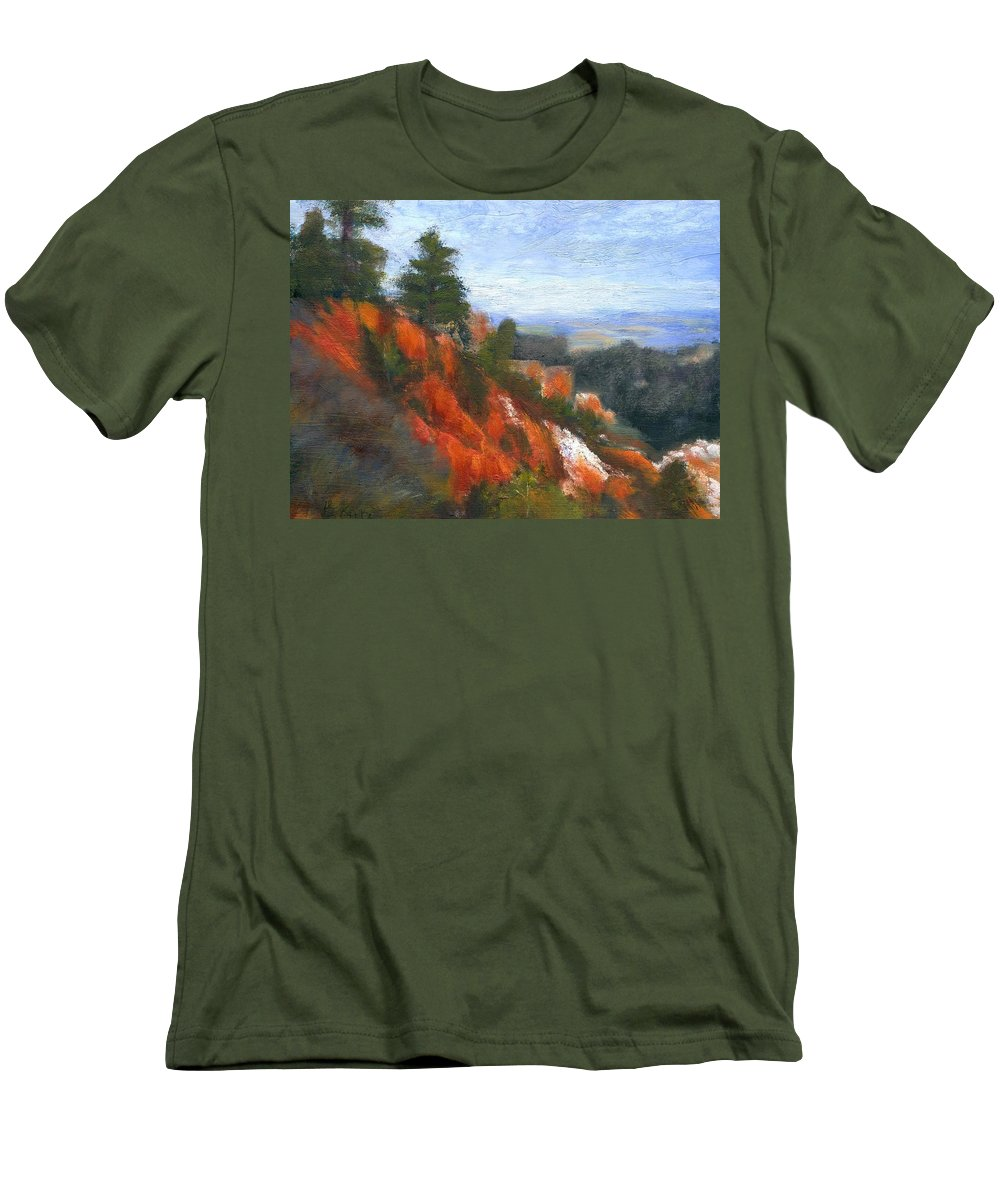 Southwest Men's T-Shirt (Athletic Fit) featuring the painting Overlook by Gail Kirtz