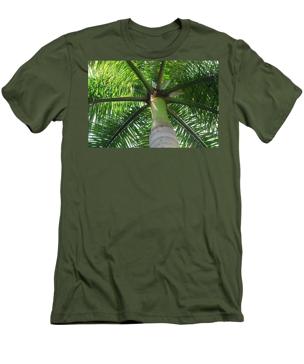 Macro Men's T-Shirt (Athletic Fit) featuring the photograph Palm Unbrella by Rob Hans
