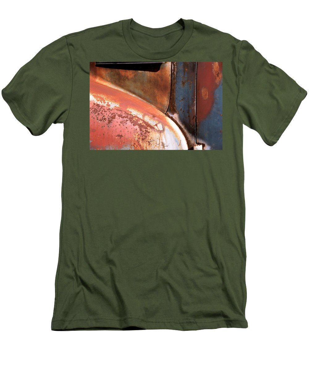 Abstract Men's T-Shirt (Athletic Fit) featuring the photograph Panel From Ole Bill by Steve Karol